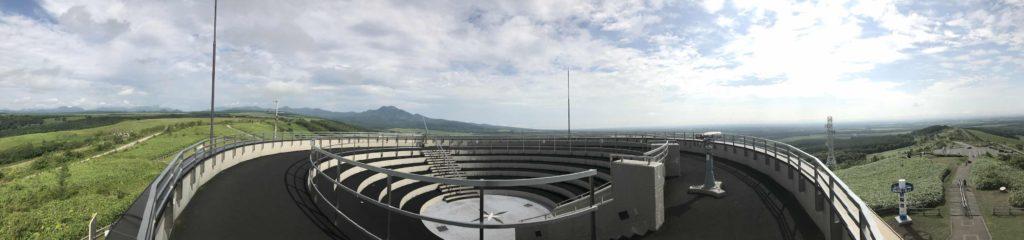 開陽台パノラマ写真