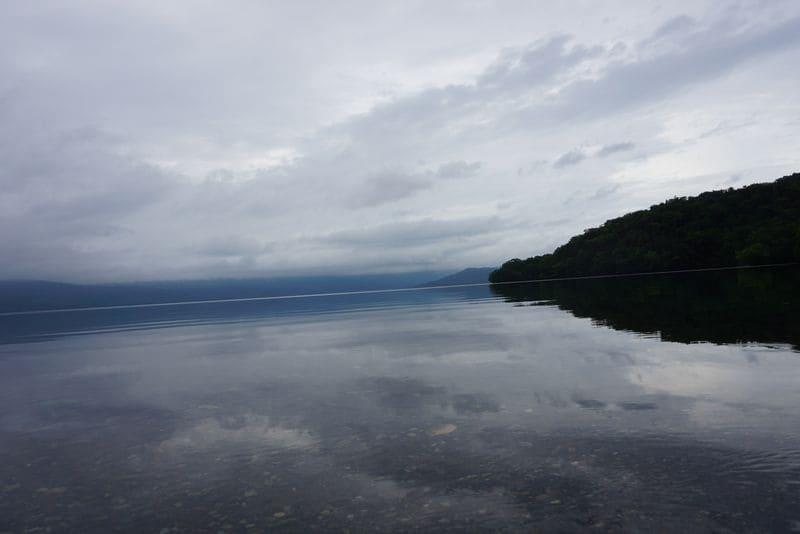 屈斜路湖の湖面