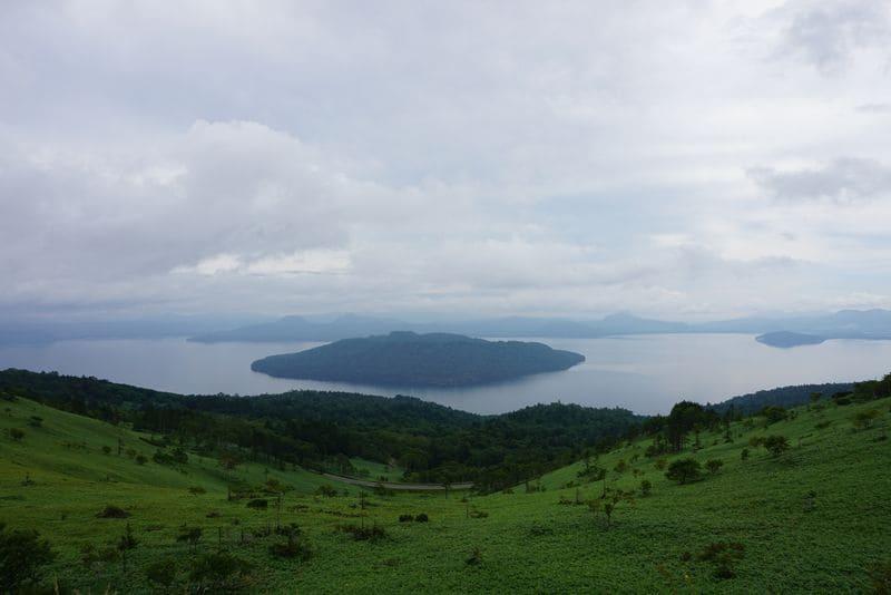美幌峠から見る屈斜路湖