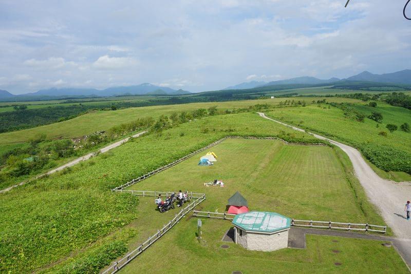 開陽台から見えるキャンプ場