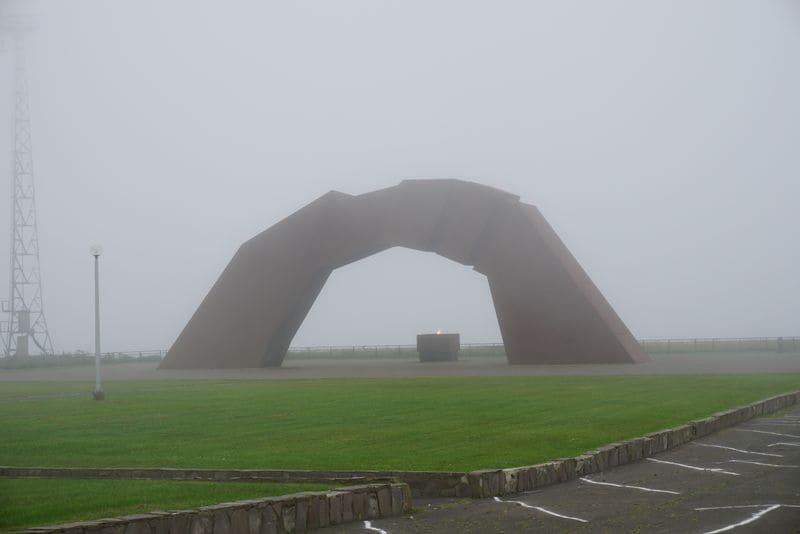 根室市納沙布岬の平和記念オブジェ