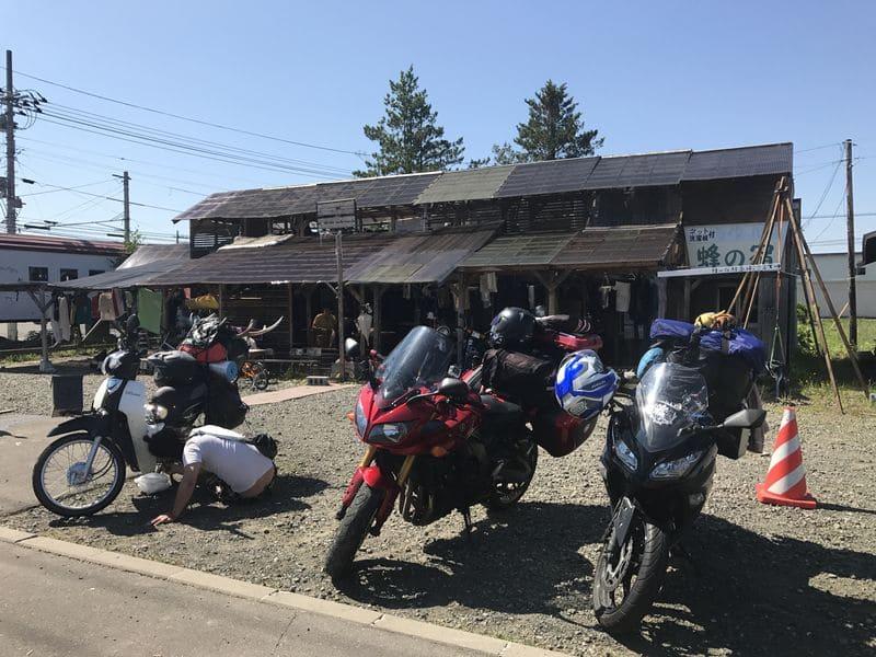 ライダーハウス鉢の宿とバイク