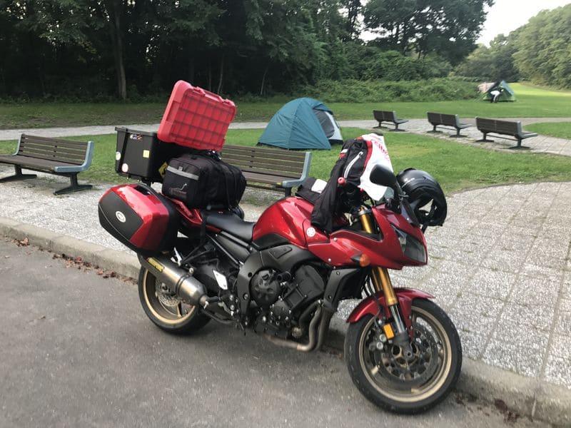 上士幌航空公園キャンプ場とバイク