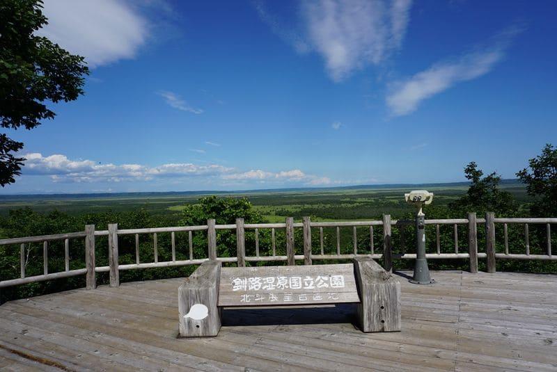 釧路湿原の北斗展望台