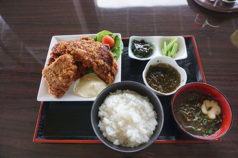 マグロ竜田揚げ定食