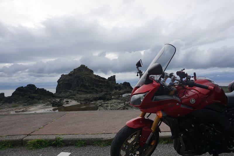 青森千畳敷とバイク