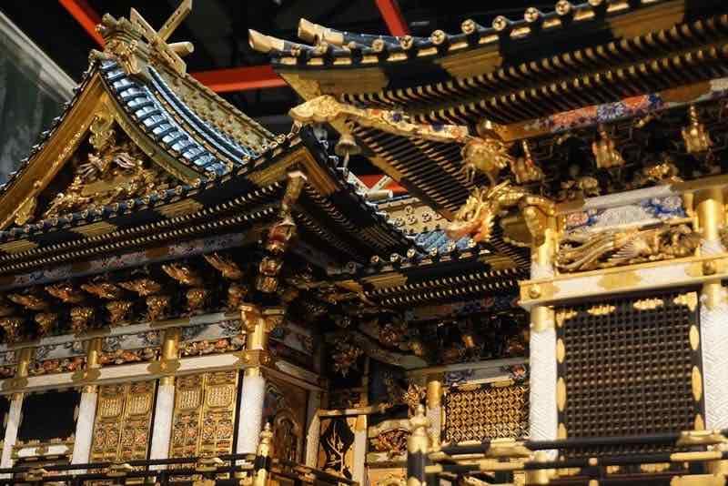 櫻山八幡宮に展示されている日光東照宮