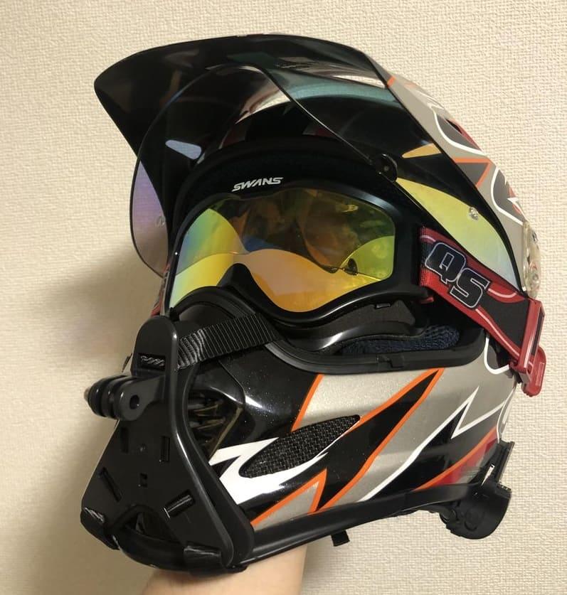 オフロードヘルメット正面カメラなし