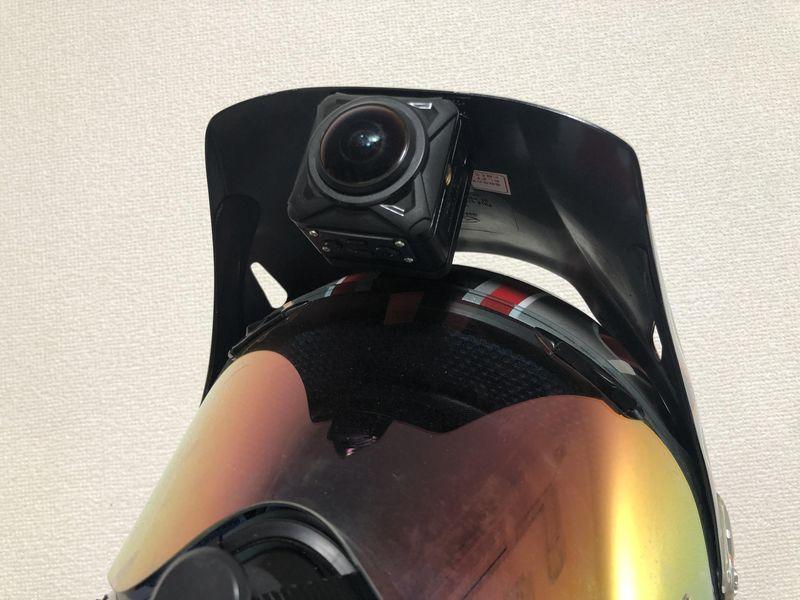 オフロードヘルメット正面ツバカメラ