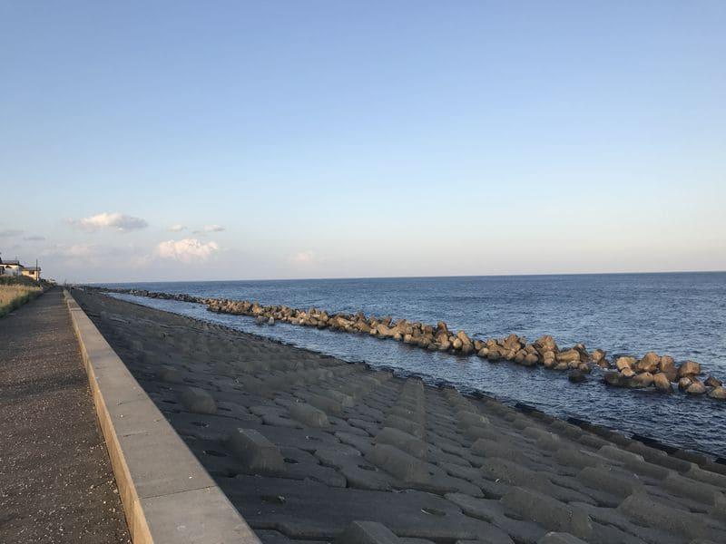 呉竹荘周辺の海
