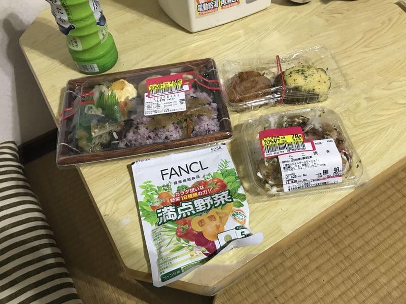 民宿で食べる夕食