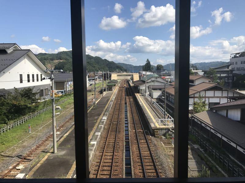 飛騨古川駅からの景色