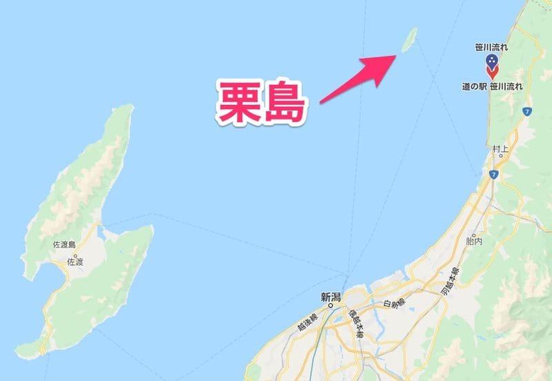 栗島の地図
