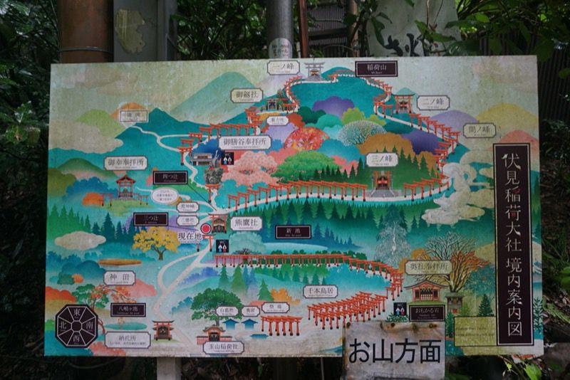 稲荷伏見大社の地図