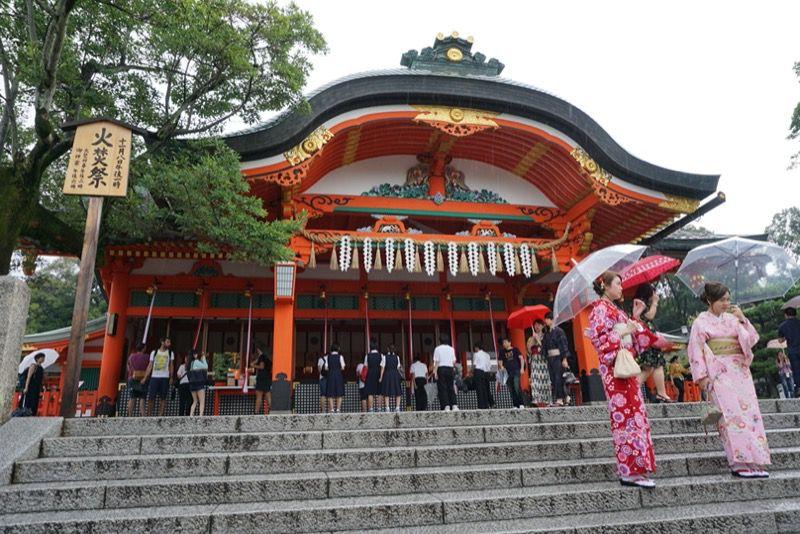 京都稲荷伏見大社の内拝殿