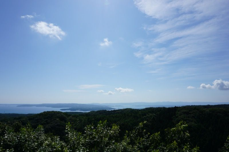 別所岳SA展望台からの景色
