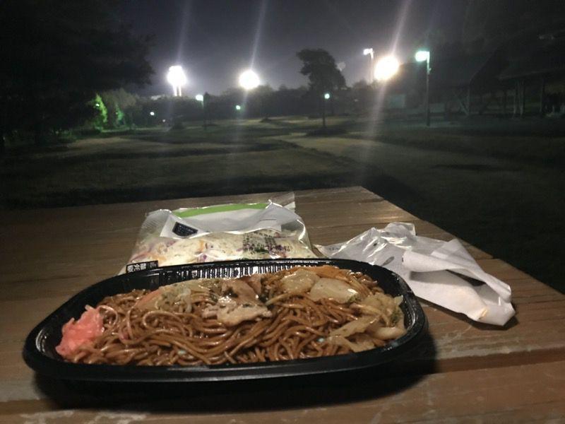 勝山運動公園キャンプ場で食べる夕飯
