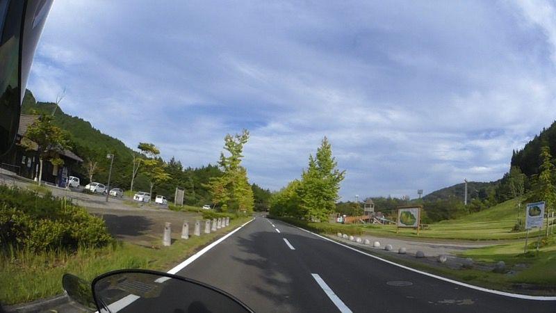 勝山運動公園キャンプ場の入り口