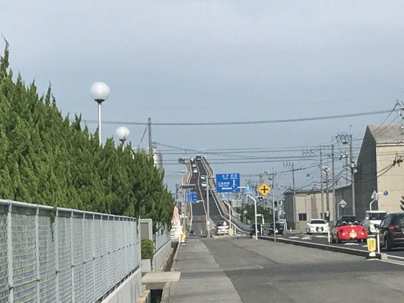 江島大橋のアップ