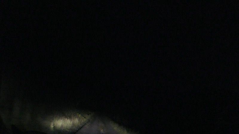 真っ暗なキャンプ場への道